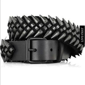 Balmain Leather Bullet Belt 36